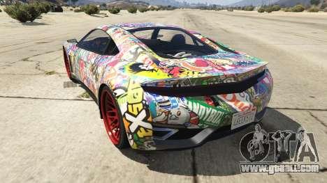 GTA 5 Stickerbomb Jester rear left side view