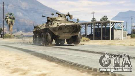 GTA 5 BTR-90 Rostok back view