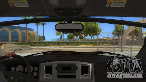 Dodge Ram SRT DES 2012 for GTA San Andreas inner view
