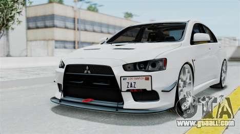 Mitsubishi Lancer Evolution X GSR Full Tunable for GTA San Andreas