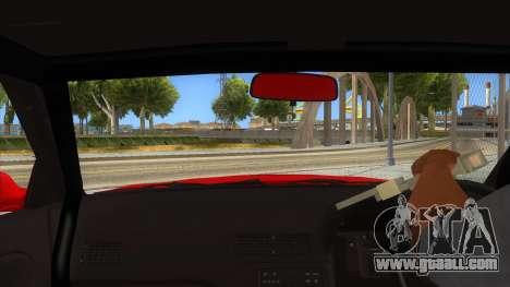 Nissan S13 Drift for GTA San Andreas inner view
