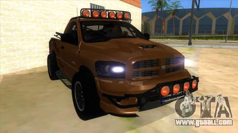 Dodge Ram SRT DES 2012 for GTA San Andreas back view