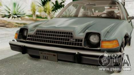 AMC Pacer 1978 IVF for GTA San Andreas side view