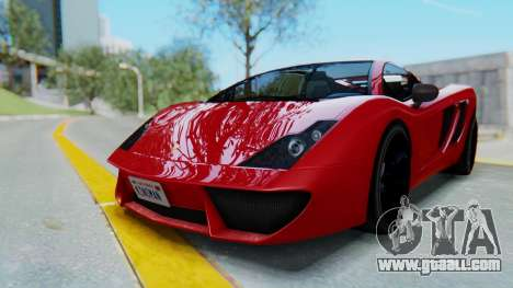 GTA 5 Pegassi Vacca SA Style for GTA San Andreas back left view