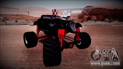 GTA 5 Hotknife Monster Truck for GTA San Andreas back view