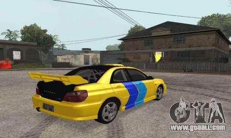 Subaru Impreza WRX STi Tunable for GTA San Andreas right view