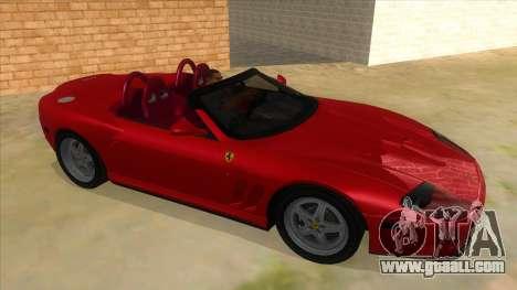Ferrari 550 Barchetta Pinifarina US Specs 2001 for GTA San Andreas back view