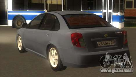 Chevrolet Lacetti Sedan for GTA San Andreas back left view