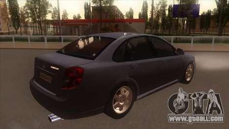 Chevrolet Lacetti Sedan for GTA San Andreas right view