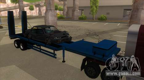 Trailer with Hydaulic Ramps for GTA San Andreas left view