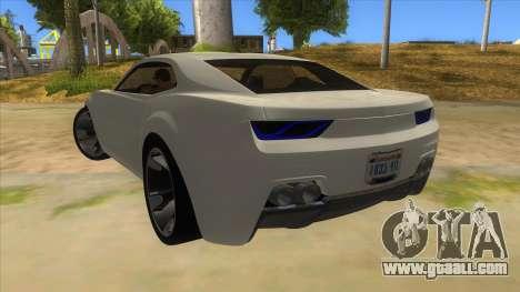 Chevrolet Camaro DOSH tuning MQ for GTA San Andreas back left view