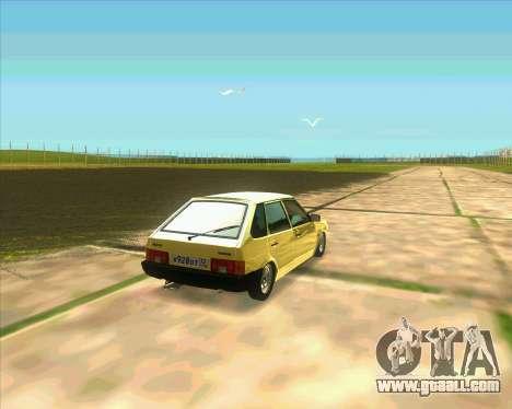 VAZ 2109 BUNKER for GTA San Andreas back left view