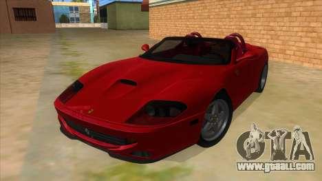 Ferrari 550 Barchetta Pinifarina US Specs 2001 for GTA San Andreas