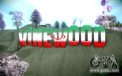 New Vinewood colors Iran flag for GTA San Andreas