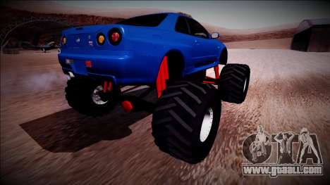 Nissan Skyline R34 Monster Truck for GTA San Andreas right view