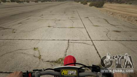 GTA 5 2009 Honda CRF450R back view