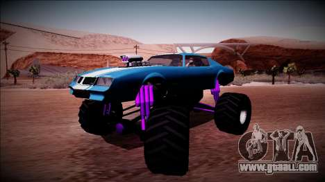 GTA 5 Imponte Phoenix Monster Truck for GTA San Andreas back left view