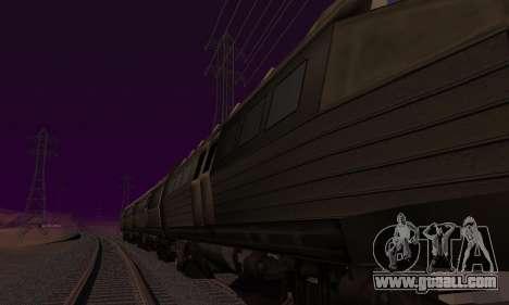 Batman Begins Monorail Train v1 for GTA San Andreas back left view