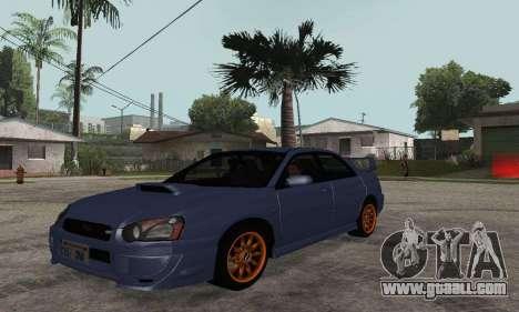Subaru Impreza WRX STi Tunable for GTA San Andreas