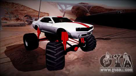 GTA 5 Bravado Gauntlet Monster Truck for GTA San Andreas upper view
