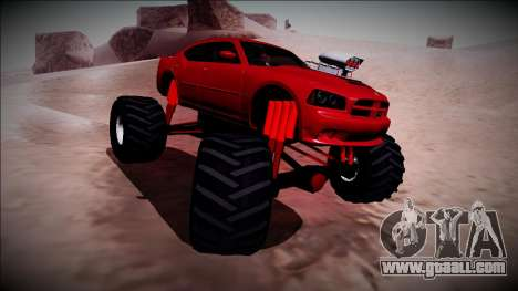 2006 Dodge Charger SRT8 Monster Truck for GTA San Andreas side view
