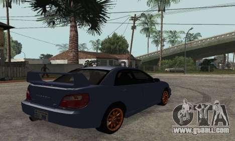 Subaru Impreza WRX STi Tunable for GTA San Andreas left view