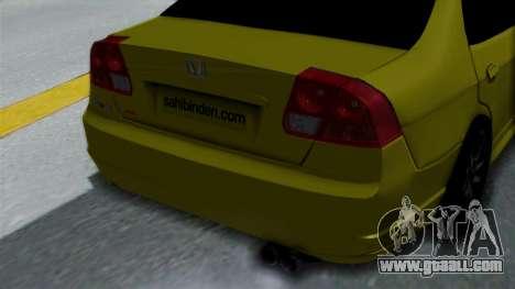 Honda Accord Vtec2 Stock for GTA San Andreas back view