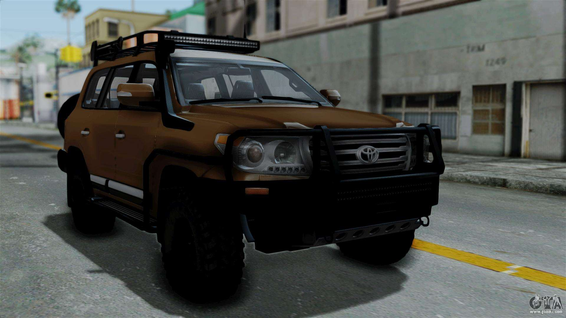 toyota land cruiser 2013 off road for gta san andreas. Black Bedroom Furniture Sets. Home Design Ideas