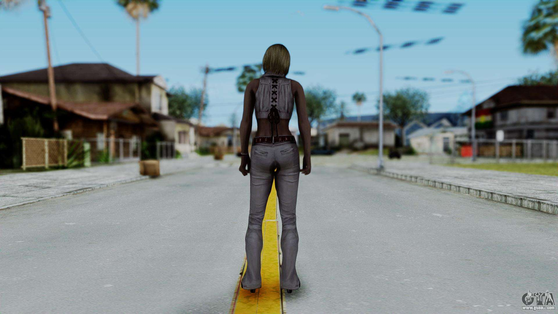 Resident Evil 4 Ultimate HD - Ashley Leather for GTA San Andreas