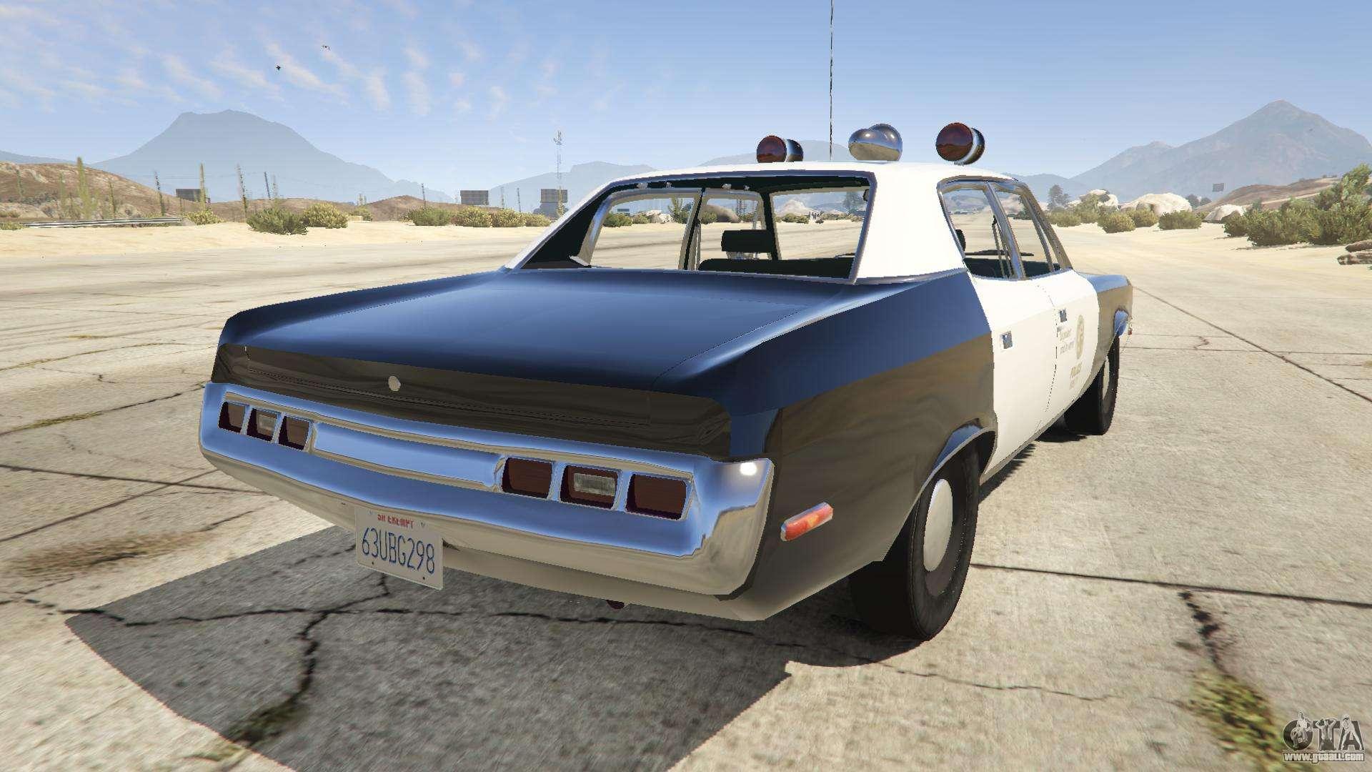 1972 AMC Matador LAPD for GTA 5 Gta 4 Pc Cars