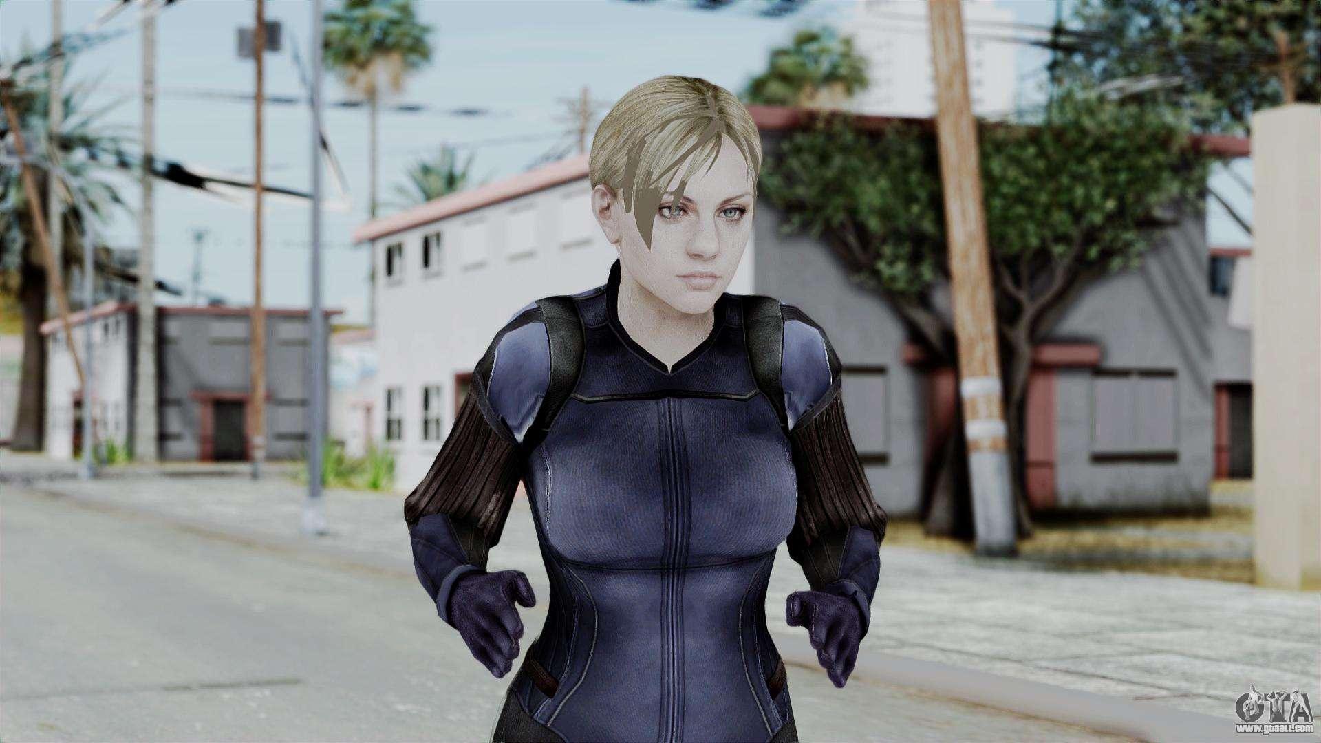 Jill Valentine Battlesuit Closed Re5 For Gta San Andreas