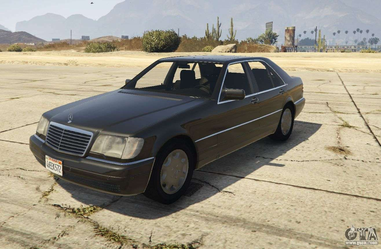 mercedes benz s600 w140 replace v1 1 for gta 5. Black Bedroom Furniture Sets. Home Design Ideas