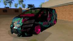Toyota Vellfire Miku Pocky Exhaust v2 FIX for GTA San Andreas