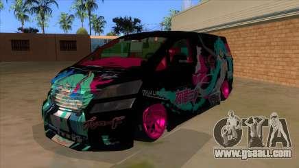 Toyota Vellfire Miku Pocky Exhaust v2 FIX for GTA San Andreas