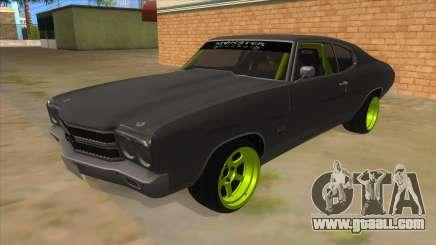 1970 Chevrolet Chevelle SS Drift Monster Energy for GTA San Andreas