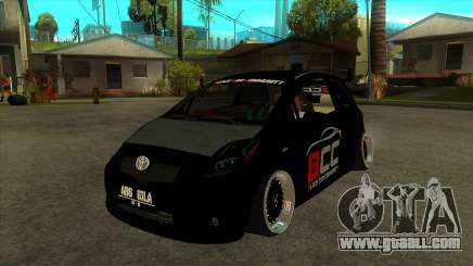 Toyota Yaris (Vitz) [Black Car Community] for GTA San Andreas