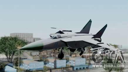 MIG-25 Foxbat for GTA San Andreas