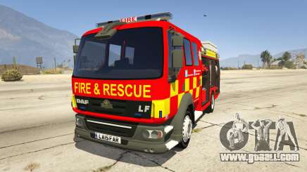 DAF Lancashire Fire & Rescue Fire Appliance for GTA 5