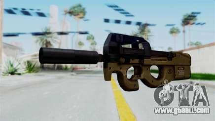 P90 Sand Frame for GTA San Andreas