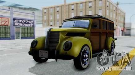 Ford V-8 De Luxe Station Wagon 1937 Mafia2 v2 for GTA San Andreas