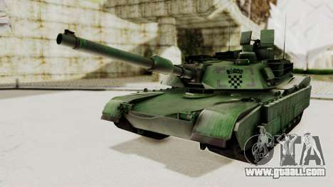M1A2 Abrams Woodland Croatian for GTA San Andreas back left view