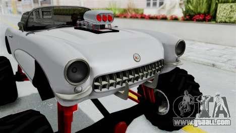Chevrolet Corvette C1 1962 Monster Truck for GTA San Andreas inner view