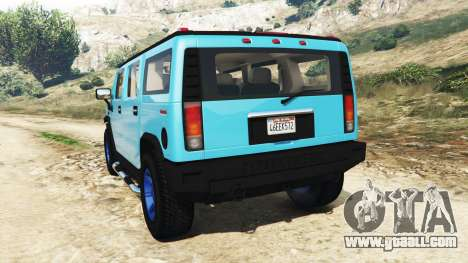 GTA 5 Hummer H2 2005 [tinting] v2.0 rear left side view