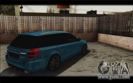 Subaru Legacy STi Wagon 2008 for GTA San Andreas inner view