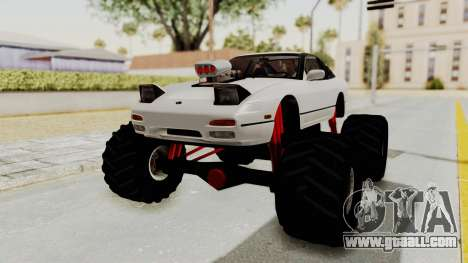 Nissan 240SX Monster Truck for GTA San Andreas right view