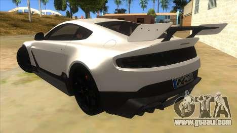 2015 Aston Martin Vantage GT12 for GTA San Andreas back left view