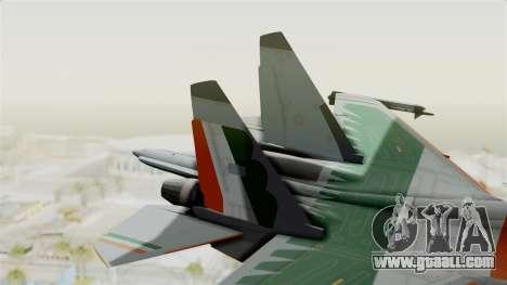 SU-30 MKI for GTA San Andreas back left view