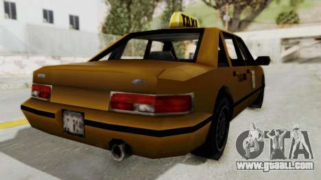 GTA 3 - Taxi for GTA San Andreas back left view