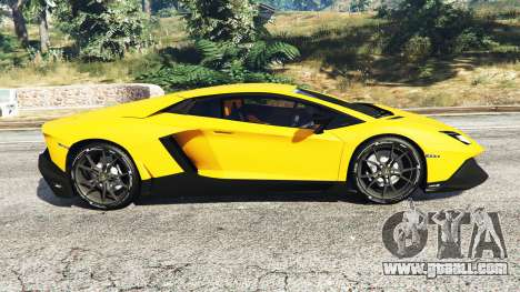 GTA 5 Lamborghini Aventador LP720-4 50th Anniversary left side view