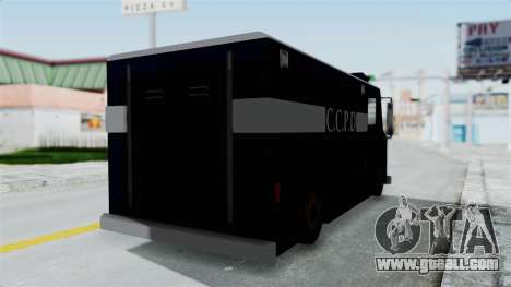CCPD Boxville from Manhunt for GTA San Andreas back left view